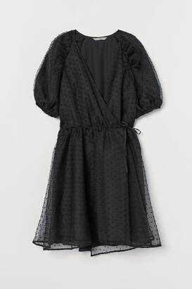 H&M Organza Wrap Dress - Black