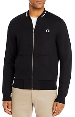 Fred Perry Cotton-Blend Full-Zip Bomber Sweatshirt