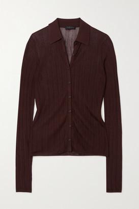 Rag & Bone Pacey Ribbed-knit Shirt - Brown