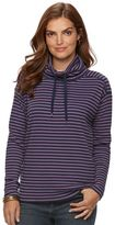 Chaps Petite Striped Thermal Turtleneck