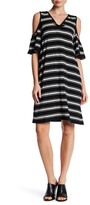 Max Studio Cold Shoulder V-Neck Dress