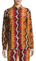 Etro Snake-Print Silk Shirt