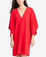 Lauren Ralph Lauren Flutter-Sleeve Crepe Dress