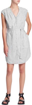 Marcs Railroad Stripe Linen Dress