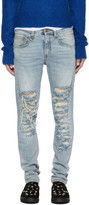 R 13 Blue Slashed Boy Jeans