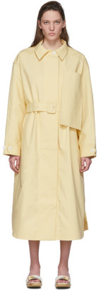 Jacquemus Yellow Le Manteau Camiseto Long Coat