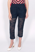 Maison Scotch Cropped Lace Trousers