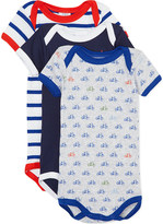 Petit Bateau Pack of three striped babygrows 1-36 months