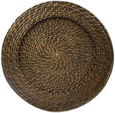 Jay Import Set Of 4 Brown Rattan Round Chargers