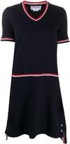Thom Browne V-Neck Knitted Dress