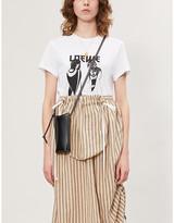 Loewe Salome logo=print cotton-jersey T-shirt