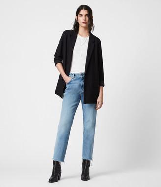 AllSaints Women's Traditional Aleida Blazer, Black, Size: UK 2/US 00