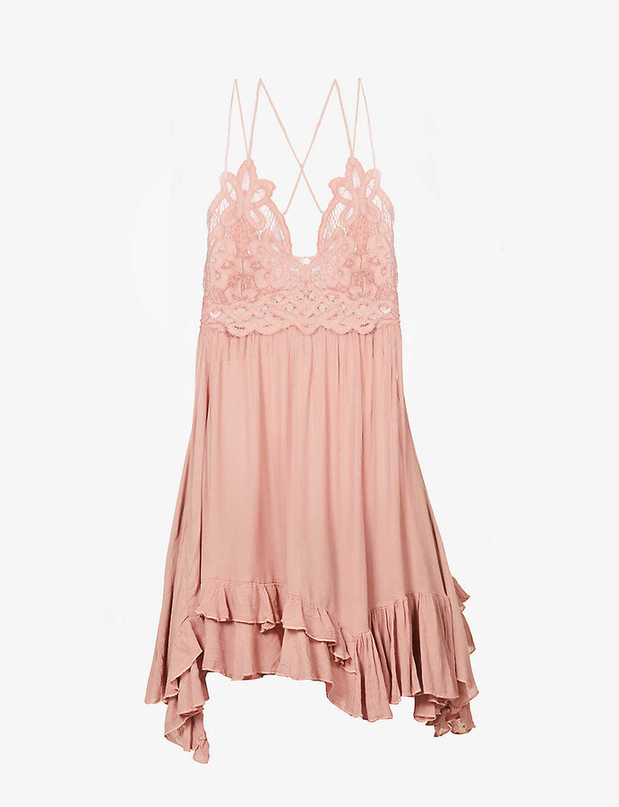 Thumbnail for your product : Free People Adella V-neckline woven mini dress