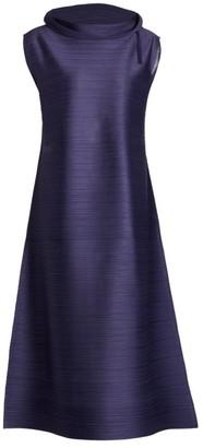 Pleats Please Issey Miyake Cantabile Highneck Midi Dress