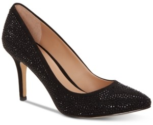 INC International Concepts Inc Women's Zitah Embellished Pointed Toe Pumps, Created for Macy's Women's Shoes