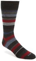 Lorenzo Uomo Men's Stripe Wool Blend Socks