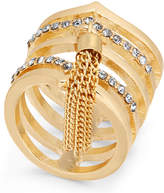 Thalia Sodi Gold-Tone Pave & Chain Tassel Ring, Created for Macy's