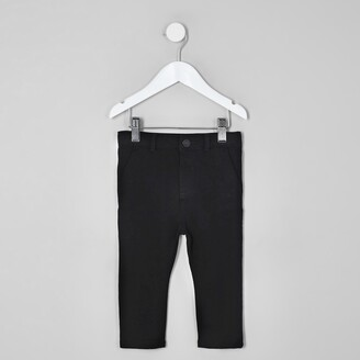 River Island Mini boys Black stretch skinny trousers