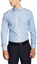Bugatti Men's Regular fit Long Sleeve Formal Shirt - Multicoloured -