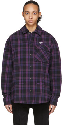 Off-White Off White Black Flannel Check Shirt