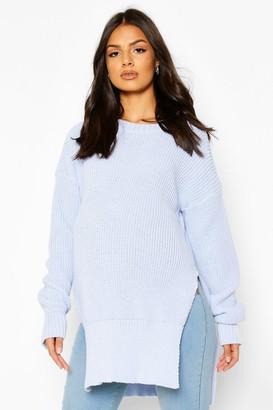boohoo Maternity Side Split Crew Neck Sweater