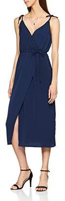 Warehouse Women's Tie Strap Wrap Sleeveless Dress