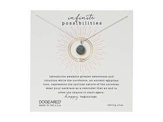 Dogeared Infinite Possibilities, Ouroboros w/ Faceted Labradorite Necklace