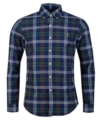 Polo Ralph Lauren Slim Fit Large Check Tartan Shirt Colour: Hunting Gr