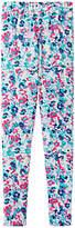 Joules Little Joule Girls' Dee Dee Floral Print Leggings, Blue/Multi