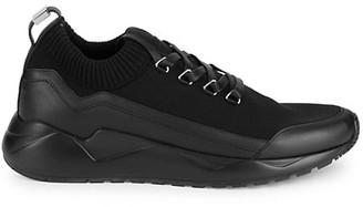 Buscemi Run1 Cashmere Textile Leather Sneakers