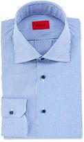 Isaia Mini-Bengal Stripe Dress Shirt, Blue/White