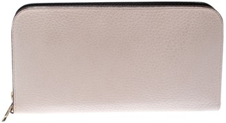 Christian Dior White Leather Wallets