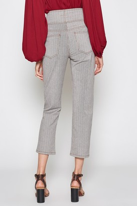 Joie Laurelle Striped High Waist Button Front Crop Pants