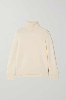 Saint Laurent Ribbed Cashmere Turtleneck Sweater - White