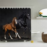 "100% Polyester New Horse Fabric Shower Curtain -66"" x 72""- Mildew Resistant Fabric Polyester 100% Shower Curtain"