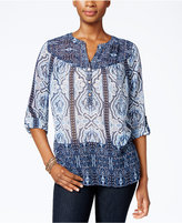 Charter Club Printed Blouse, Only at Macy's