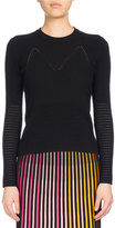 Kenzo Crew Neck Fitted Sweater, Black