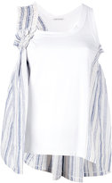 Stefano Mortari layered tank top - women - Cotton/Linen/Flax - 40