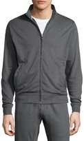 Peter Millar Heather Full-Zip Sweater, Charcoal