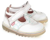 Kickers Heart Print Leather Sandals