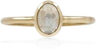 Lee Renee Labradorite Rose Cut Ring - Gold