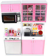 Pink Sink Toy Kitchen Doll Play Set