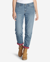 Eddie Bauer Women's Boyfriend Flannel-Lined Jeans