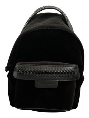 Stella McCartney Falabella Go Black Velvet Backpacks