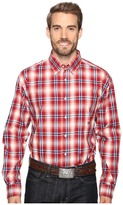 Roper 0557 Wine Plaid Button One-Pocket
