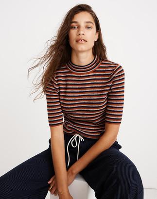 Madewell Dalston Mockneck Sweater in Stripe