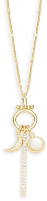 Gorjana Celestial Charm Cubic Zirconia & Mother-Of-Pearl Pendant Necklace