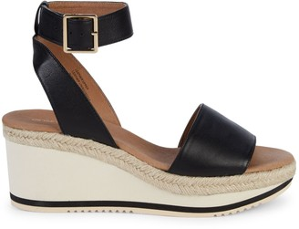 Andre Assous Petra Leather Wedge Sandals
