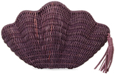Kayu Jane Raffia Shell Clutch