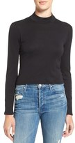 Splendid Mock Neck Crop Top